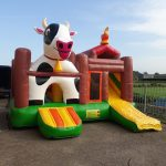 Springkussen multiplay koe boerderij